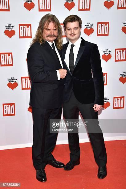 Leslie Mandoki and Gabor Mandoki attend the Ein Herz Fuer Kinder Gala 2016 on December 3, 2016 in Berlin, Germany.
