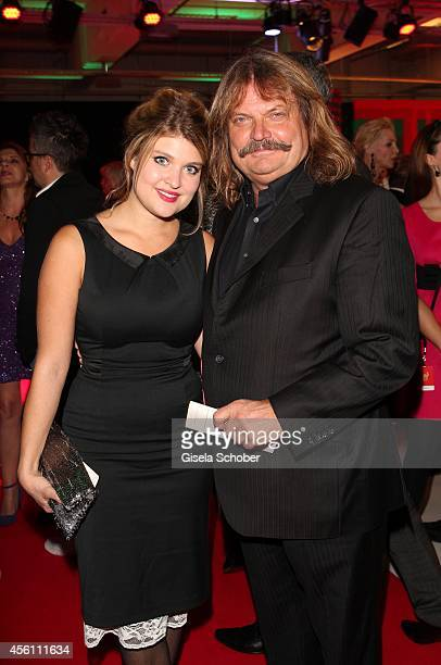 Leslie Mandoki and his daughter Lara arrive at Tribute To Bambi 2014 at Station on September 25, 2014 in Berlin, Germany.