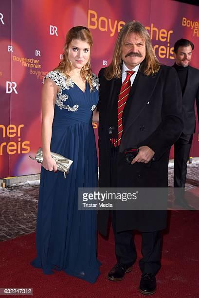 Leslie Mandoki and his daughter Lara Mandoki attend the Bayerischer Filmpreis 2017 at Prinzregententheater on January 20, 2017 in Munich, Germany.