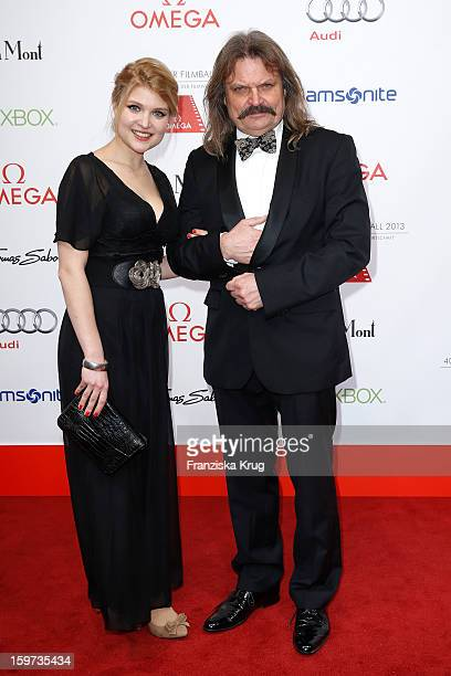 Leslie Mandoki and his daughter Lara Mandoki attend the Germany Filmball 2013 on January 19 2013 in Munich Germany