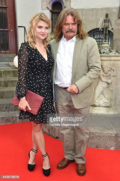 Leslie Mandoki and his daughter Lara Mandoki during the Bavaria Film reception during the Munich Film Festival 2016 at Kuenstlerhaus am Lenbachplatz...