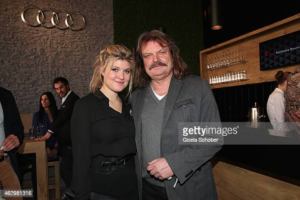 Leslie Mandoki and his daugther Lara Mandoki attend the AUDI Berlinale Brunch during the 65th Berlinale International Film Festival at AUDI Lounge on...