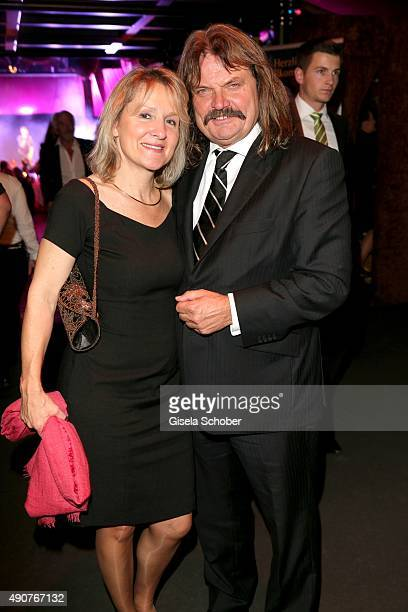 Leslie Mandoki and his wife Dr Eva Mandoki during Ralph Siegel's 70th birthday party at Schuhbeck's Teatro on September 30 2015 in Munich Germany