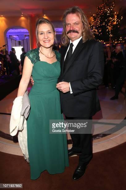 Leslie Mandoki and his wife Dr. Eva Mandoki during the Audi Generation Award 2018 at Hotel Bayerischer Hof on December 11, 2018 in Munich, Germany.