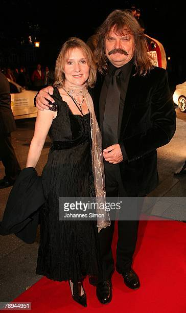 Leslie Mandoki and his wife Eva arrive for the United People Charity Night 2007 on September 21 2007 in Munich Germany