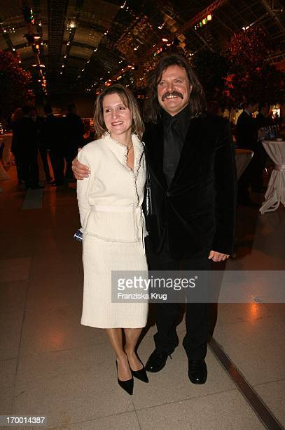 Leslie Mandoki and his wife Eva At The Party After The Jose Carreras Gala in Leipzig 151205