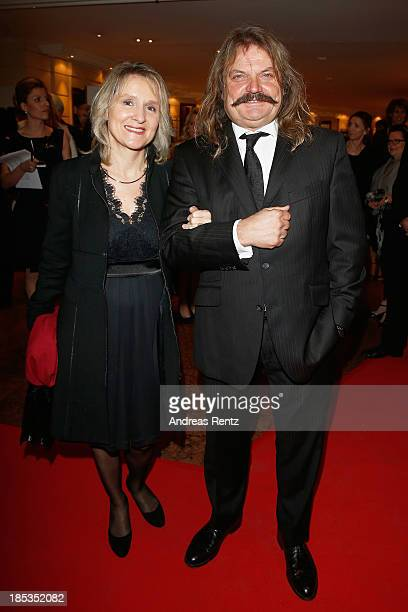 Leslie Mandoki and his wife Eva attend Audi Generation Award 2013 on October 19, 2013 in Munich, Germany.