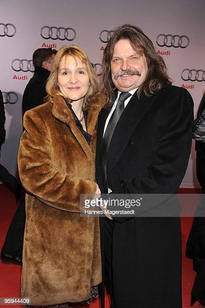 Leslie Mandoki and his wife Eva attend the Audi Night at Hotel 'Zur Tenne' on January 22 2010 in Kitzbuehel Austria
