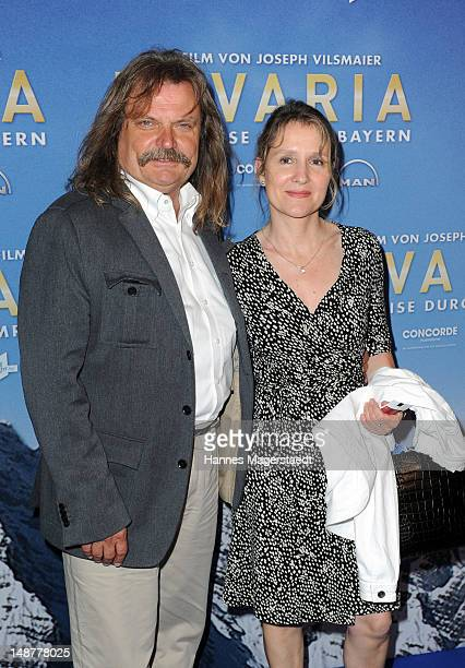 Leslie Mandoki and his wife Eva attend the 'Bavaria' Germany Premiere at the Mathaeser Filmpalast on July 19 2012 in Munich Germany