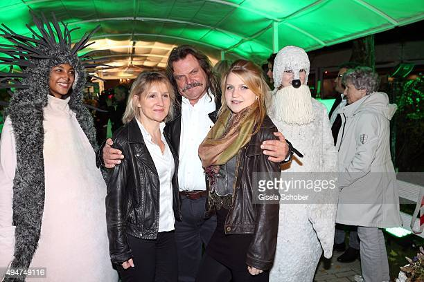 Leslie Mandoki and his wife Eva Mandoki and his daughter Julia Mandoki during the 'Tabaluga Es lebe die Freundschaft' record release at Das Schloss...