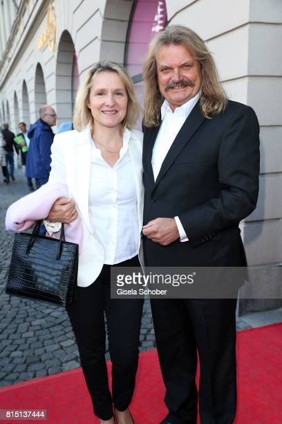 Leslie Mandoki and his wife Eva Mandoki at the MercedesBenz reception at 'Klassik am Odeonsplatz' on July 15 2017 in Munich Germany