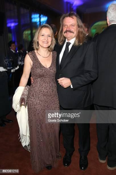 Leslie Mandoki and his wife Eva Mandoki during the Audi Generation Award 2017 at Hotel Bayerischer Hof on December 13 2017 in Munich Germany