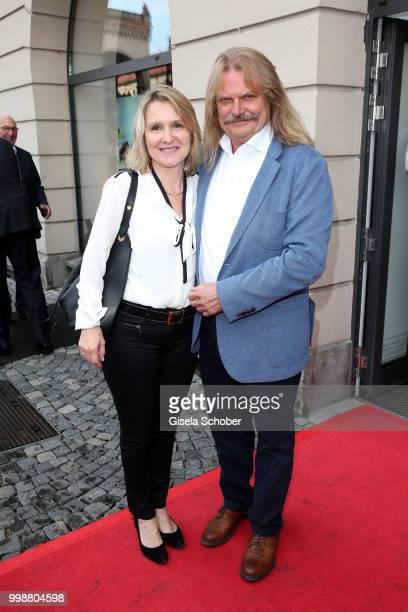 Leslie Mandoki and his wife Eva Mandoki during the Mercedes-Benz reception at 'Klassik am Odeonsplatz' on July 14, 2018 in Munich, Germany.