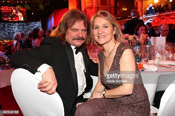 Leslie Mandoki and his wife Eva Mandoki during the Semper Opera Ball 2015 at Semperoper on January 30 2015 in Dresden Germany