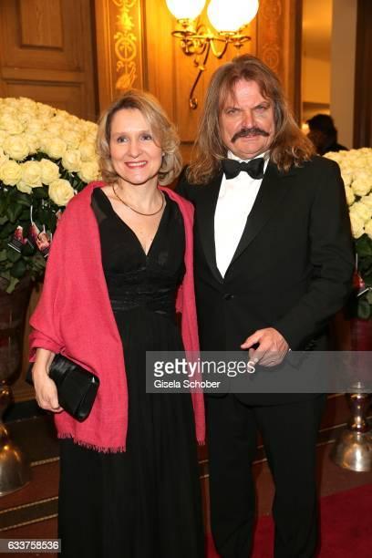 Leslie Mandoki and his wife Eva Mandoki during the Semper Opera Ball 2017 at Semperoper on February 3, 2017 in Dresden, Germany.