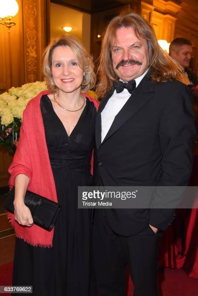 Leslie Mandoki and his wife Eva Mandoki during the Semper Opera Ball 2017 at Semperoper on February 3 2017 in Dresden Germany