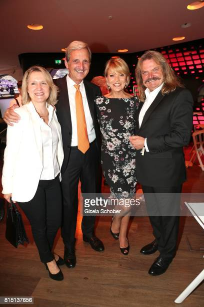 Leslie Mandoki and his wife Eva Mandoki Uschi Glas and her husband Dieter Hermann at the MercedesBenz reception at 'Klassik am Odeonsplatz' on July...