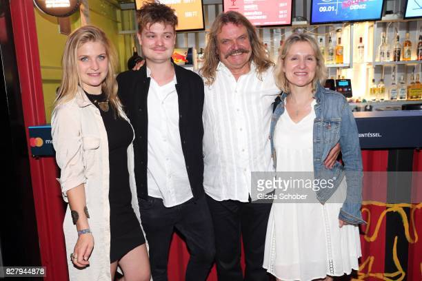 Leslie Mandoki with his daughter Julia Mandoki son Gabor Mandoki and his wife Eva Mandoki after the Man Doki Soulmates concert during the Sziget...