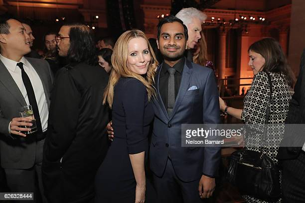 Leslie Mann and Aziz Ansari attend IFP's 26th Annual Gotham Independent Film Awards at Cipriani Wall Street on November 28 2016 in New York City