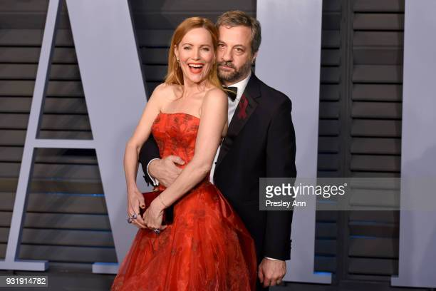 Leslie Mann and Judd Apatow attend 2018 Vanity Fair Oscar Party Hosted By Radhika Jones Arrivals at Wallis Annenberg Center for the Performing Arts...