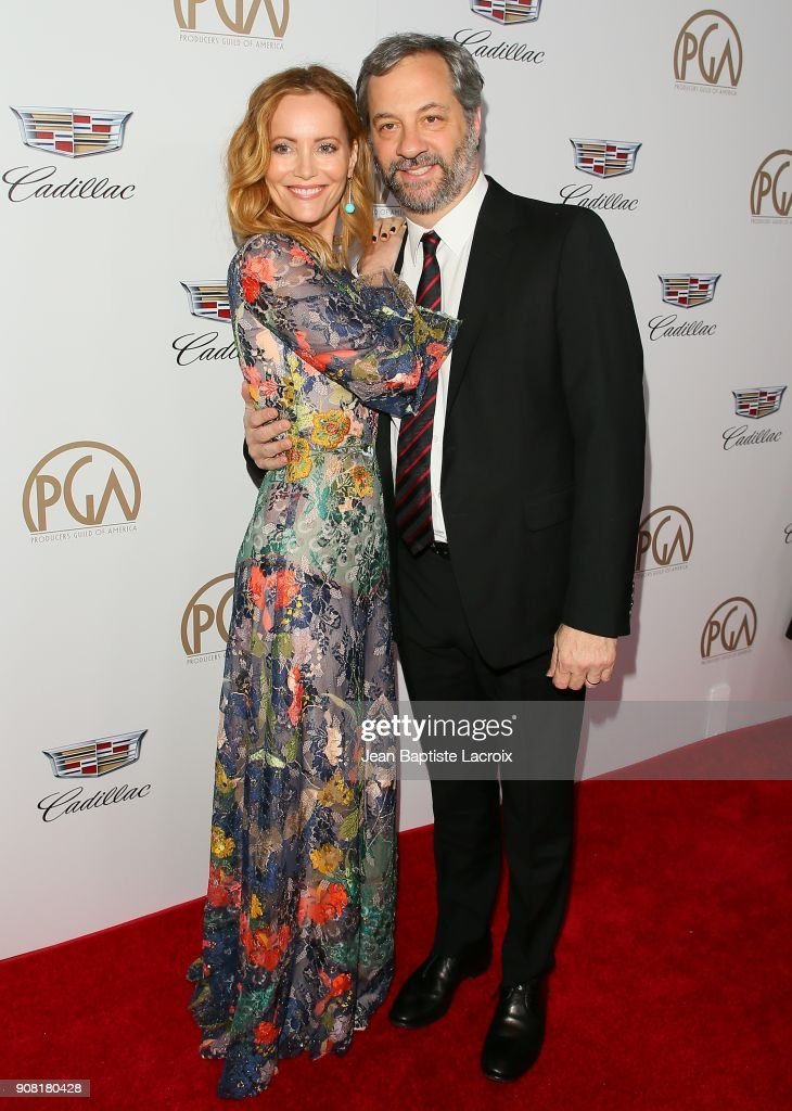 Leslie Mann and Judd Apatow attend the 29th Annual Producers Guild Awards at The Beverly Hilton Hotel on January 20, 2018 in Beverly Hills, California.