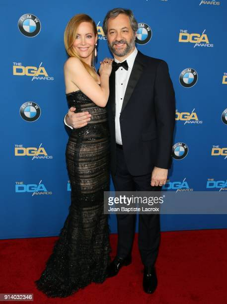 Leslie Mann and Judd Apatow attend the 70th Annual Directors Guild Of America Awards at The Beverly Hilton Hotel on February 3 2018 in Beverly Hills...