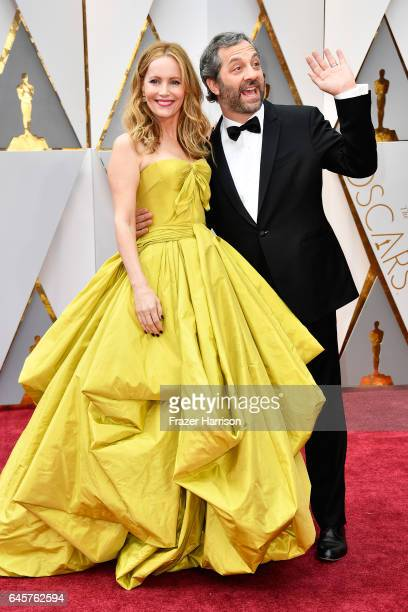 Leslie Mann and Judd Apatow attend the 89th Annual Academy Awards at Hollywood Highland Center on February 26 2017 in Hollywood California