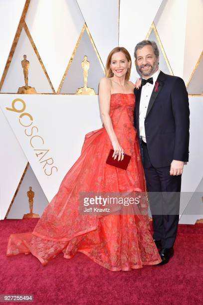 Leslie Mann and Judd Apatow attend the 90th Annual Academy Awards at Hollywood Highland Center on March 4 2018 in Hollywood California