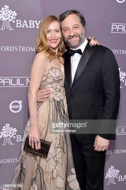 Leslie Mann and Judd Apatow pose at the 2018 Baby2Baby Gala Presented by Paul Mitchell at 3LABS on November 10 2018 in Culver City California