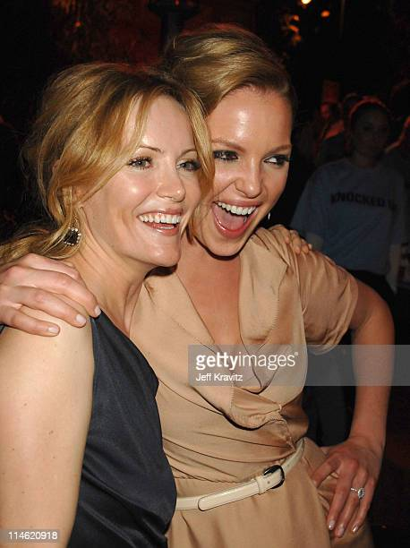Leslie Mann and Katherine Heigl during 'Knocked Up' Los Angeles Premiere After Party in Westwood California United States