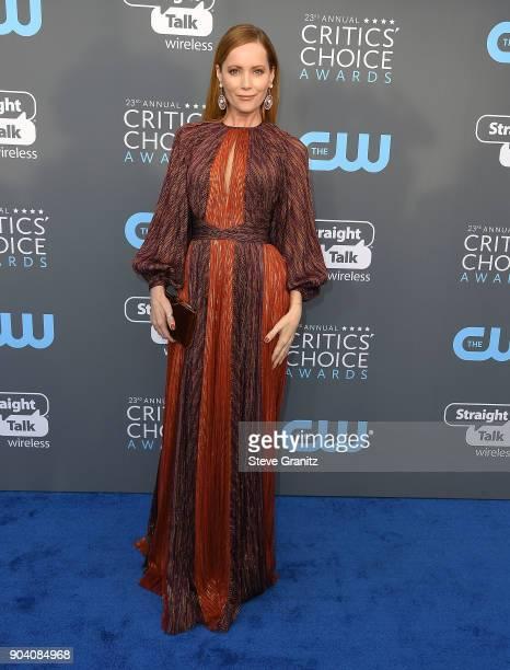 Leslie Mann arrives at the The 23rd Annual Critics' Choice Awards at Barker Hangar on January 11 2018 in Santa Monica California