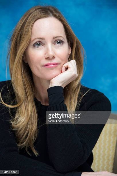 Leslie Mann at the 'Blockers' Press Conference at The Montage Hotel on April 4 2018 in Beverly Hills California