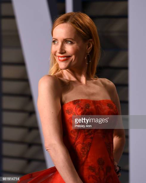 Leslie Mann attends 2018 Vanity Fair Oscar Party Hosted By Radhika Jones Arrivals at Wallis Annenberg Center for the Performing Arts on March 4 2018...