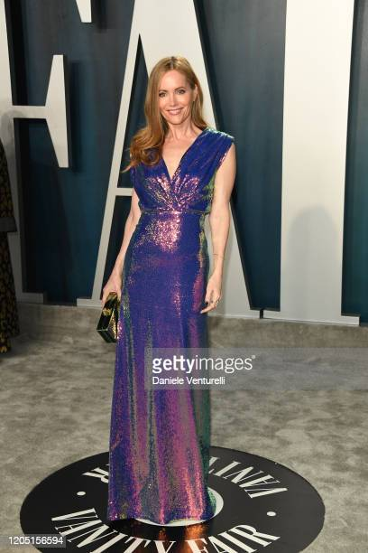 Leslie Mann attends 2020 Vanity Fair Oscar Party Hosted By Radhika Jones at Wallis Annenberg Center for the Performing Arts on February 09 2020 in...