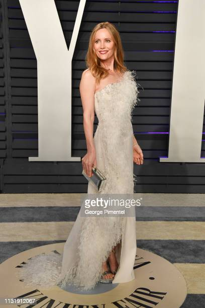 Leslie Mann attends the 2019 Vanity Fair Oscar Party hosted by Radhika Jones at Wallis Annenberg Center for the Performing Arts on February 24 2019...
