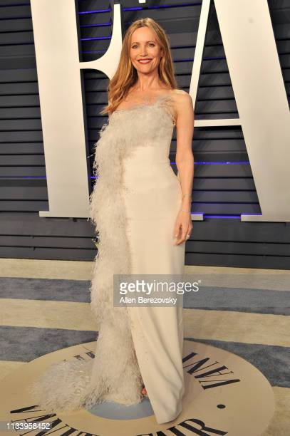 Leslie Mann attends the 2019 Vanity Fair Oscar Party hosted by Radhika Jones at Wallis Annenberg Center for the Performing Arts on February 24, 2019...