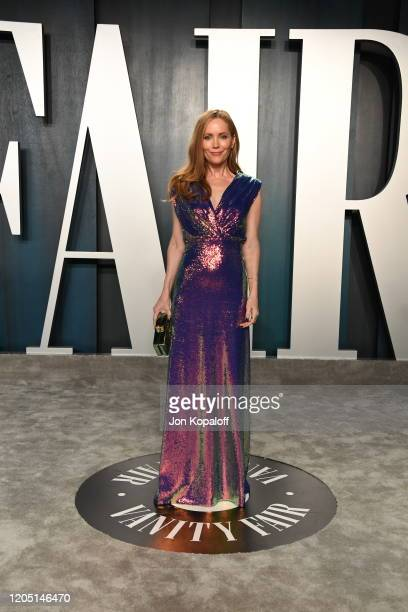 Leslie Mann attends the 2020 Vanity Fair Oscar Party hosted by Radhika Jones at Wallis Annenberg Center for the Performing Arts on February 09, 2020...