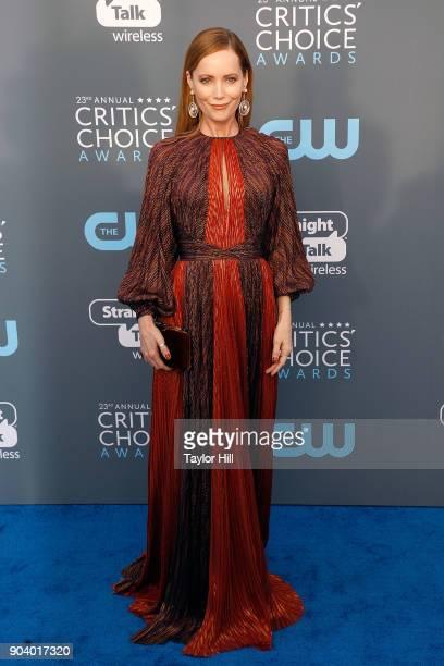 Leslie Mann attends the 23rd Annual Critics' Choice Awards at Barker Hangar on January 11 2018 in Santa Monica California