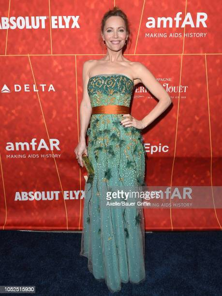 Leslie Mann attends the amfAR Gala Los Angeles 2018 at Wallis Annenberg Center for the Performing Arts on October 18 2018 in Beverly Hills California