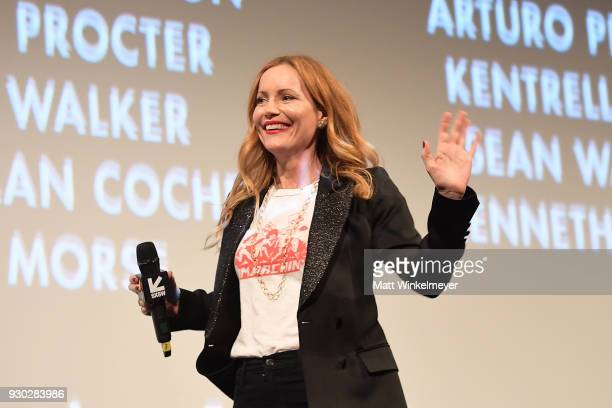 Leslie Mann attends the 'Blockers' Premiere 2018 SXSW Conference and Festivals at Paramount Theatre on March 10 2018 in Austin Texas