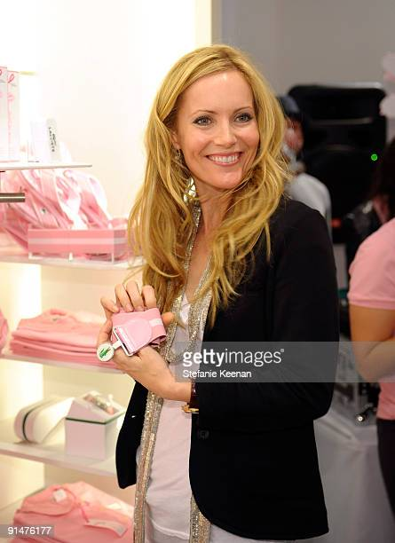 Leslie Mann attends the launch of the 2009 Pink Croc Collection to benefit the Breast Cancer Research Foundation held at the Lacoste Boutique on...