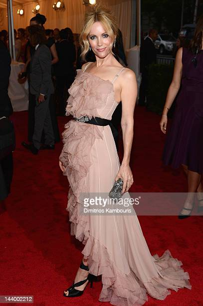 Leslie Mann attends the Schiaparelli And Prada Impossible Conversations Costume Institute Gala at the Metropolitan Museum of Art on May 7 2012 in New...