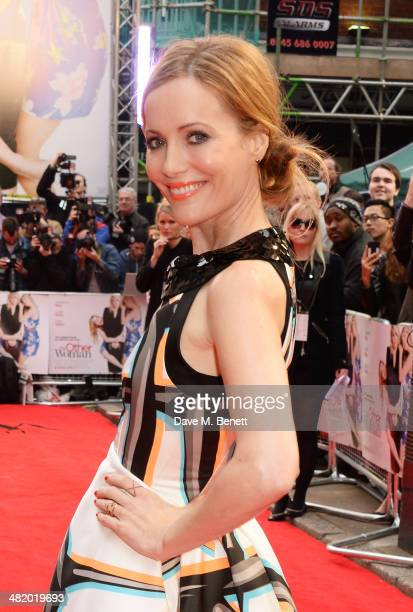 Leslie Mann attends the UK Gala Premiere of 'The Other Woman' at The Curzon Mayfair on April 2 2014 in London England
