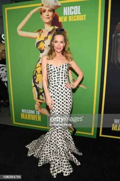 """Leslie Mann attends Universal Pictures and DreamWorks Pictures' premiere of """"Welcome To Marwen"""" at ArcLight Hollywood on December 10, 2018 in..."""