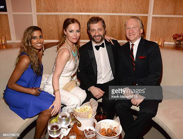 Leslie Mann Bill Maher and Judd Apatow attend the 2015 Vanity Fair Oscar Party hosted by Graydon Carter at the Wallis Annenberg Center for the...