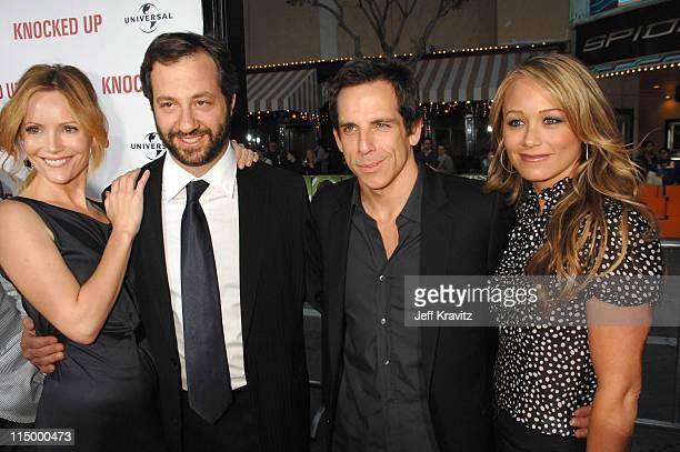 Leslie Mann Judd Apatow director/writer/producer Ben Stiller and Christine Taylor