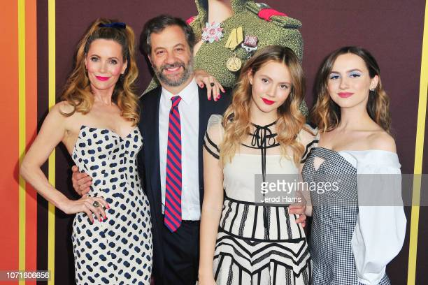 Leslie Mann Judd Apatow Iris Apatow and Maude Apatow attend Universal Pictures and DreamWorks Pictures' Premiere of 'Welcome To Marwen' at ArcLight...