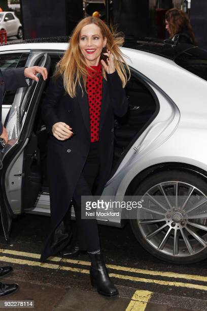 Leslie Mann seen at Bauer Media studios for an interview with Magic Radio on March 15 2018 in London England