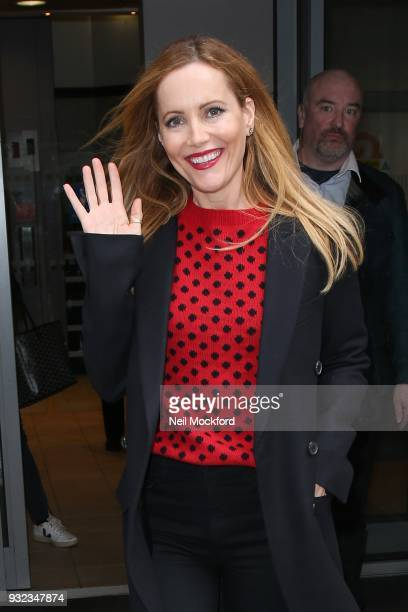 Leslie Mann seen at BBC Radio 2 on March 15 2018 in London England