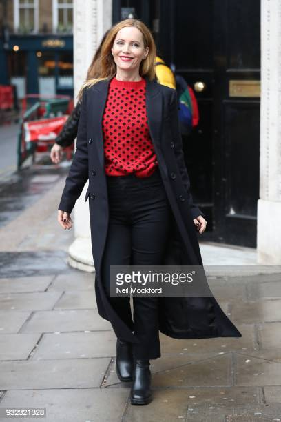 Leslie Mann seen Magic Radio on March 15 2018 in London England